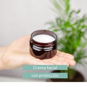 crema facial con protección